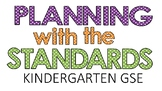 Kindergarten GSE Plan-it-out sheets