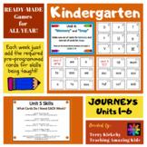 Kindergarten Journeys:  Phonics Games for ALL YEAR