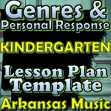 Kindergarten Unit Plan Template - Genres - Arkansas Elementary Music