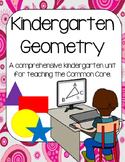 Kindergarten Geometry Lessons, Activities and Centers (2-D and 3-D Shapes)