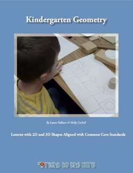 A Year of Kindergarten Geometry - 20 Activities with 2D an