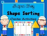 Kindergarten Geometry 3d solid and 2d plane Shape Sorting Math Center Mats