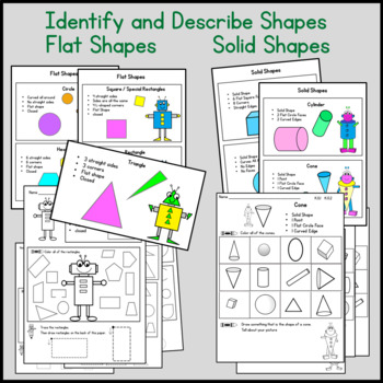 Kindergarten Geometry Common Core PACK!! All Standards 62 pgs