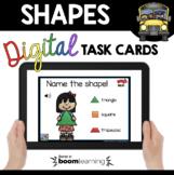 Kindergarten Geometry Boom Cards™ 2D Shapes and 3D solids Digital task cards