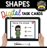 Kindergarten Geometry Boom Cards™ 2D Shapes and 3D solids
