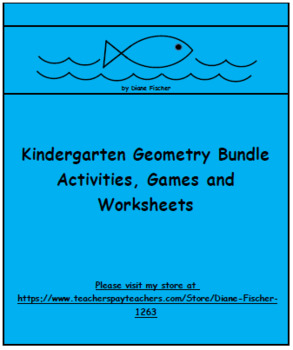 Kindergarten Geometry Bundle