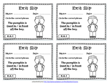 Kindergarten Geometry Exit Slips: Geometry Exit Tickets Kindergarten