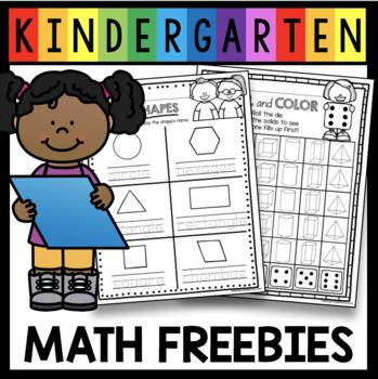 Kindergarten Geometry FREE 2D Shape Center - Matching Game