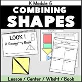 Kindergarten Geometry K.G.6 Reproducible Book Combining Shapes