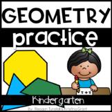Kindergarten Geometry Practice Pages