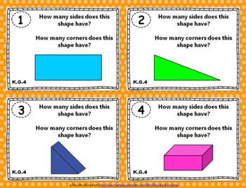 Kindergarten Geometry Task Cards: Kindergarten Geometry Centers, K.G