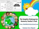 Kindergarten Geometry Teacher's Pack - Complete Core Aligned