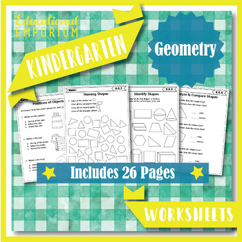 Kindergarten Geometry Worksheets: Geometry Worksheets, Kindergarten Math