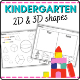 Kindergarten Geometry 2D and 3D Shapes Activities and Assessments