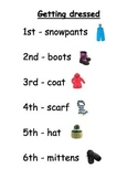 Kindergarten Getting Dressed poem with Math and Literacy a
