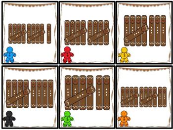 Kindergarten Gingerbread Math Centers- 8 December Math Centers