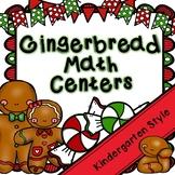Kindergarten Gingerbread Math Centers- 8 December Math Cen