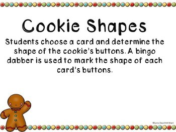 Kindergarten Gingerbread Math Center - Cookie Shapes