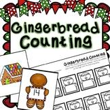 Kindergarten Gingerbread Math Center - Gingerbread Man Counting