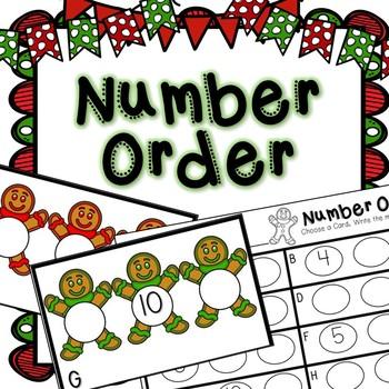 Kindergarten Gingerbread Math Center - Number Order
