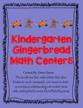 Kindergarten Gingerbread Math Centers