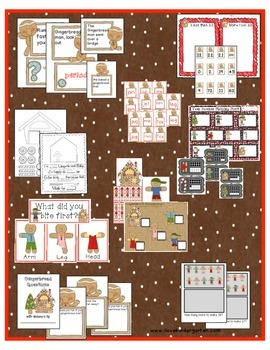 Kindergarten Gingerbread Math and Literacy Activities