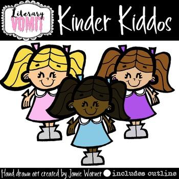 Kindergarten Girls Clip Art
