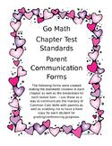 Kindergarten Go Math Assessment Standards per Chapter- Family Communication