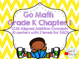 Go Math Kindergarten Chapter 1 (Differentiated Centers)