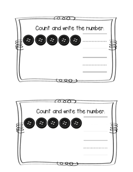 Kindergarten Go Math Chapter 1 Numbers 0-5 Journals