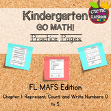 Kindergarten Go Math! Chapter 1 Practice Pages *Florida MA