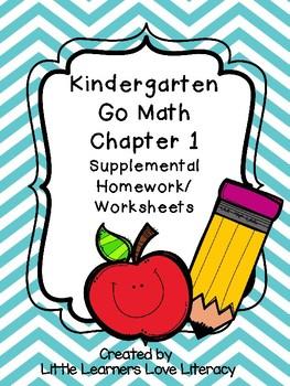 Kindergarten Go Math Chapter 1 - Numbers 0-5 Worksheets/Homework