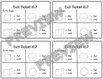 Kindergarten Go Math Chapter 10 Exit Tickets