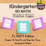 Kindergarten Go Math! Chapter 10 Practice Pages *Florida M
