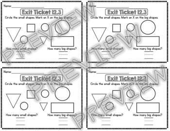Kindergarten Go Math Chapter 12 Exit Tickets