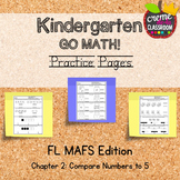 Kindergarten Go Math! Chapter 2 Practice Pages *Florida MA