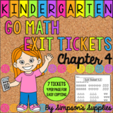 Kindergarten Go Math Chapter 4 Exit Tickets