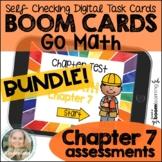 Kindergarten Go Math Chapter 7 Assessments BUNDLE Boom Cards™ Digital Task Cards