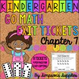 Kindergarten Go Math Chapter 7 Exit Tickets | Distance Learning | Google Slides
