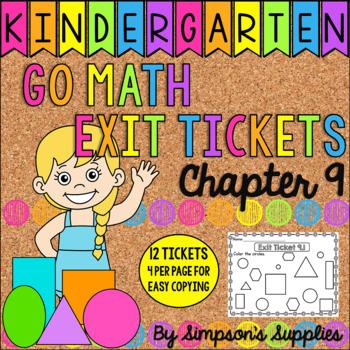 Kindergarten Go Math Chapter 9 Exit Tickets