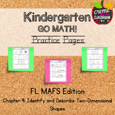 Kindergarten Go Math! Chapter 9 Practice Pages *Florida MA