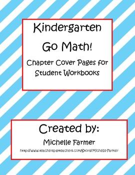 Kindergarten Go Math Cover Sheets