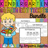Kindergarten Go Math Exit Ticket Bundle