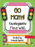 Kindergarten Go Math Focus Wall