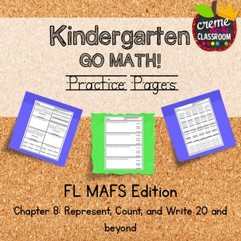 Go math chapter 8 test teaching resources teachers pay teachers kindergarten go math chapter 8 practice pages florida mafs edition fandeluxe Image collections