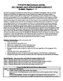 Kindergarten Go Math Unit Plan Unit 1 Chapters 1-4
