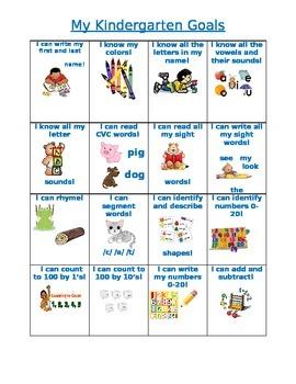 Kindergarten Goals
