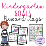 Kindergarten Goals Brag Tags with Matching Goal Sheet!