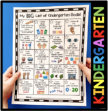 Kindergarten Goals Checklist - Incentive Chart - Awards - Common Core Math & ELA