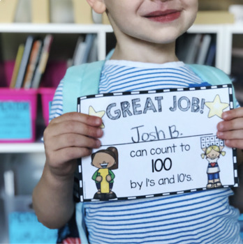 Kindergarten Goals Checklist - Incentive Chart - Awards - I Can Statements